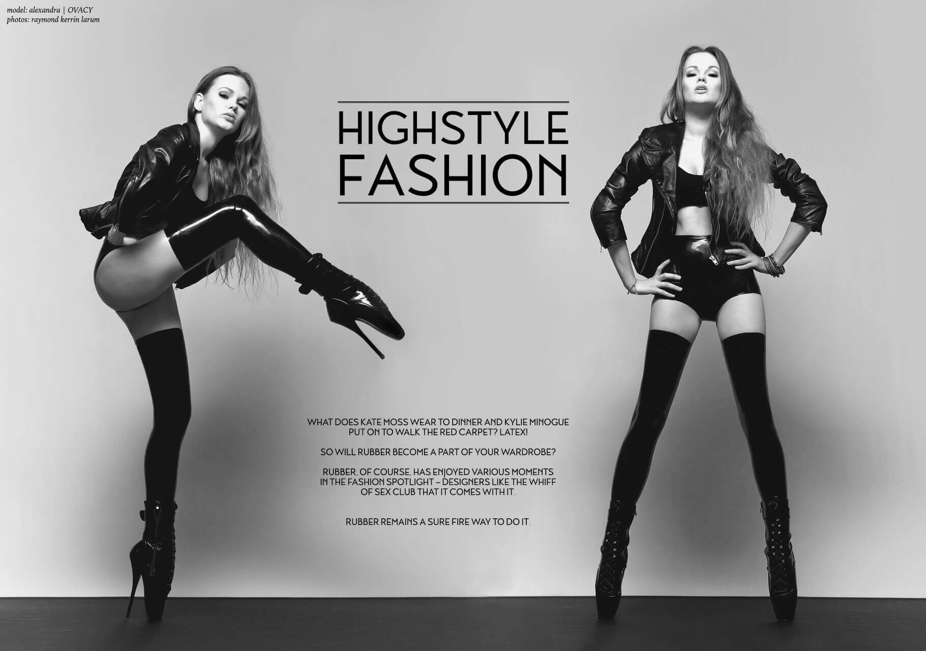 "Alexandra Potter и Alisa в латексе для ""Highstyle fashion"""