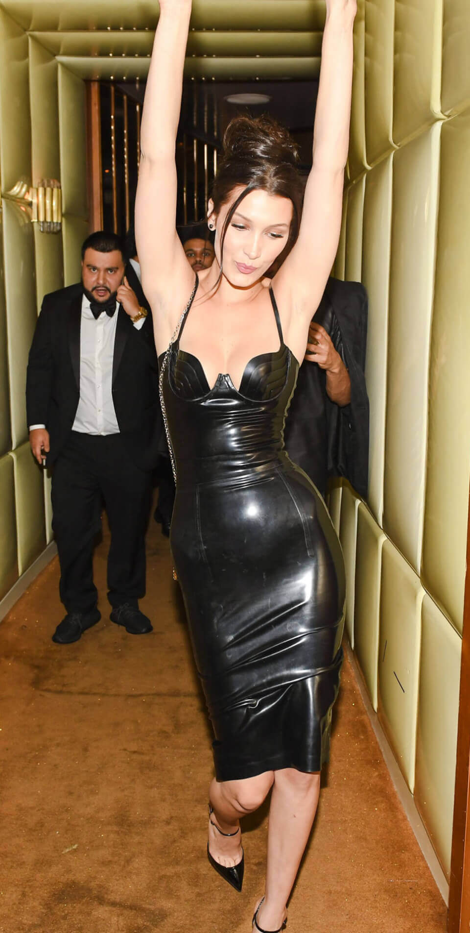 Bella Hadid в платье из латекса на Met Gala 2016 After Party