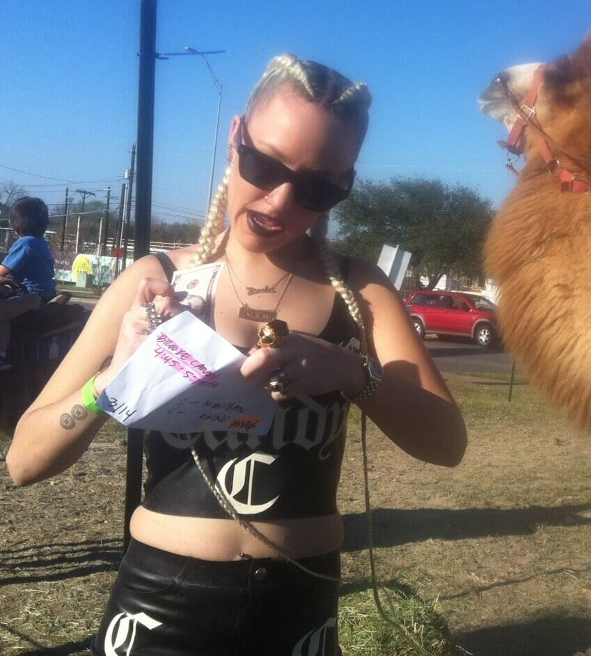 Brooke Candy в латексе
