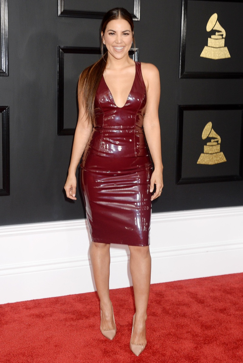 Liz Hernandez в латексена GRAMMY Awards